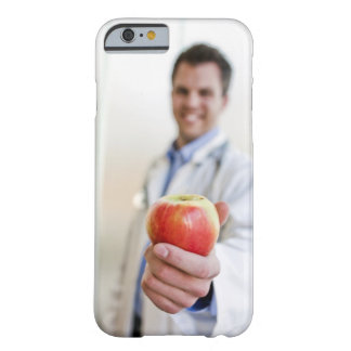 A portrait of a doctor holding a . barely there iPhone 6 case