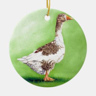 A Portrait of a Goose Round Ceramic Decoration