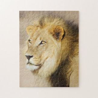 A portrait of a Lion, Kgalagadi Transfrontier Park Jigsaw Puzzle