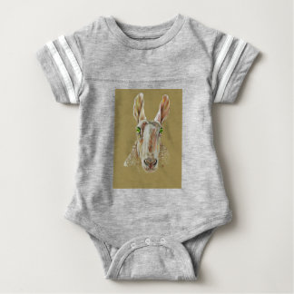 A portrait of a sheep baby bodysuit