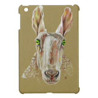 A portrait of a sheep case for the iPad mini