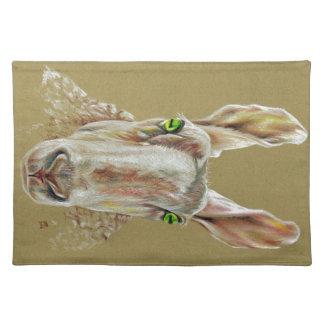 A portrait of a sheep placemat