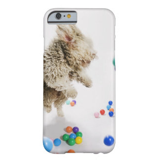 A Portuguese Waterdog jumping amongst falling Barely There iPhone 6 Case