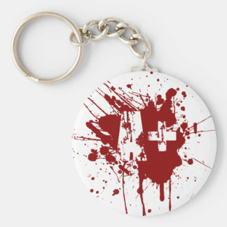 A positive Blood Type for Vampires & Zombies Key Ring