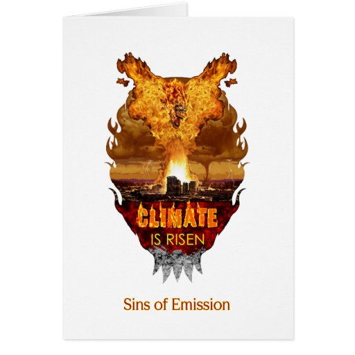 A postcard for atheist environmentalists. greeting card