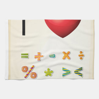 A poster showing the love of Mathematics Tea Towels