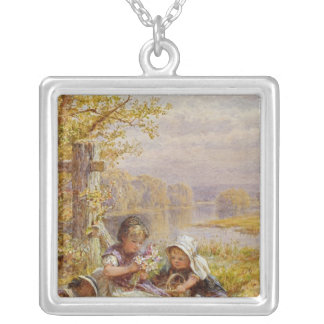 A Posy for Mother, 1867 Silver Plated Necklace