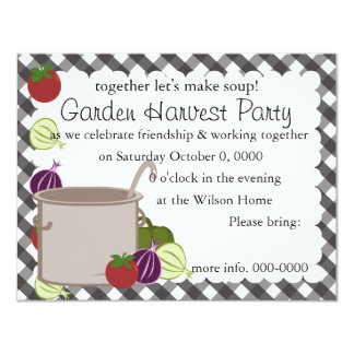 "A Pot Of Soup 4.25"" X 5.5"" Invitation Card"