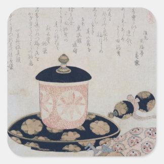 A Pot of Tea and Keys, 1822 Square Sticker