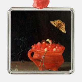 A Pot of Wild Strawberries Christmas Ornament