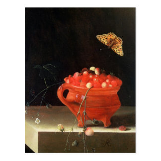 A Pot of Wild Strawberries Postcard