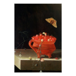 A Pot of Wild Strawberries Poster