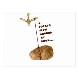 A Potato Flew Around My Room Postcard