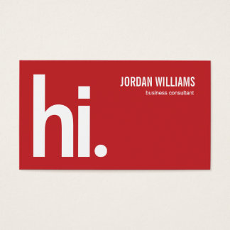A Powerful Hi - Modern Business Card - Red
