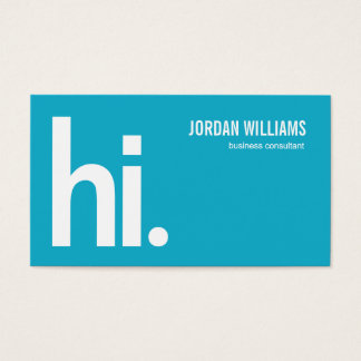 A Powerful Hi - Modern Business Card - Turquoise