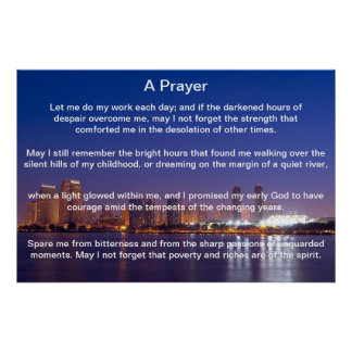 A Prayer Blue San Diego  Posters