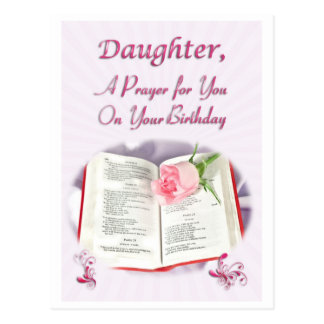 A prayer for a Daughter on her Birthday Postcard