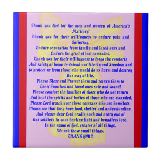 A Prayer For Our Soldiers Ceramic Tile