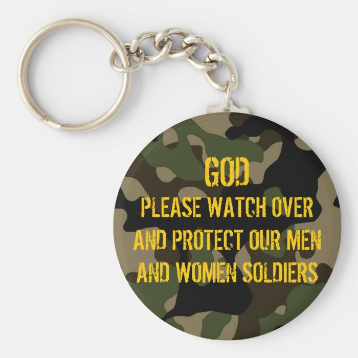 A PRAYER FOR THE SOLDIERS Keychain