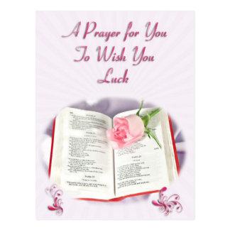 A prayer to wish you luck postcard