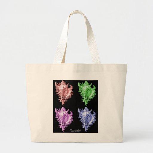 A predatory sea snail tote bag