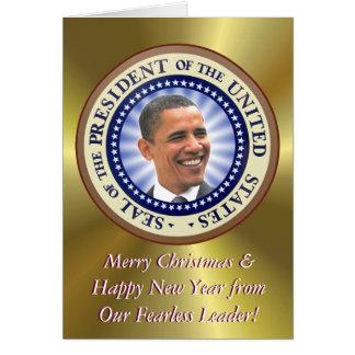 A President Obama Christmas Card