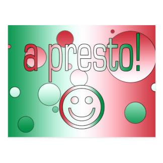 A Presto! Italy Flag Colors Pop Art Postcard
