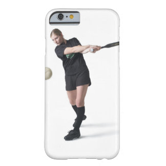 a pretty young caucasian woman is wearing a barely there iPhone 6 case