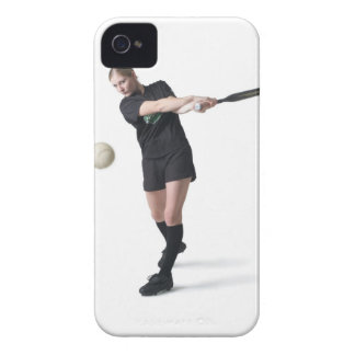 a pretty young caucasian woman is wearing a iPhone 4 cases