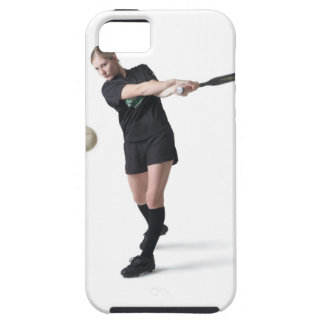 a pretty young caucasian woman is wearing a iPhone 5 covers