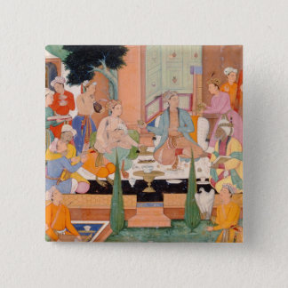 A prince and companions take refreshments and list 15 cm square badge