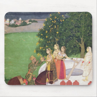 A Prince begging water from women at a well Mouse Mat