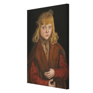 A Prince of Saxony, c.1517 (oil on panel) Gallery Wrap Canvas