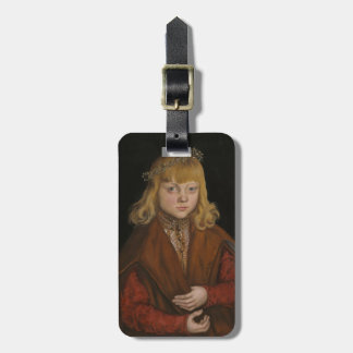A Prince of Saxony, c.1517 (oil on panel) Luggage Tag