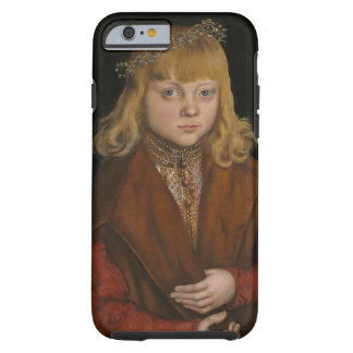 A Prince of Saxony, c.1517 (oil on panel) Tough iPhone 6 Case