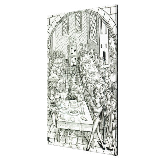 A Princely Banquet 1491 Gallery Wrap Canvas