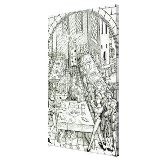 A Princely Banquet, 1491 Canvas Print