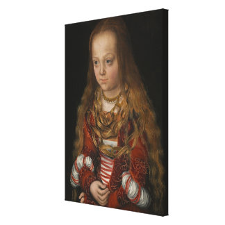 A Princess of Saxony, c.1517 (oil on panel) Gallery Wrap Canvas