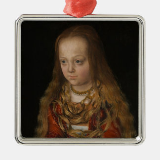 A Princess of Saxony, c.1517 (oil on panel) Christmas Ornament