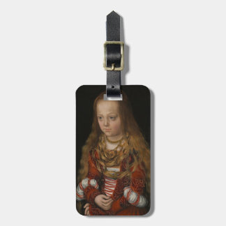 A Princess of Saxony, c.1517 (oil on panel) Luggage Tag