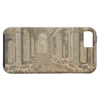A Procession in St Peter's, Rome (w/c over an etch iPhone 5 Cases