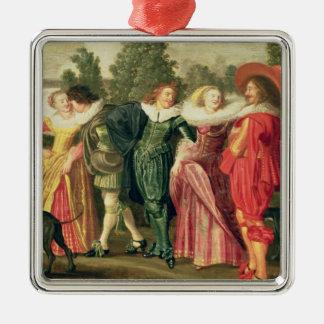 A Promenade in the Garden, c.1623 Christmas Ornament