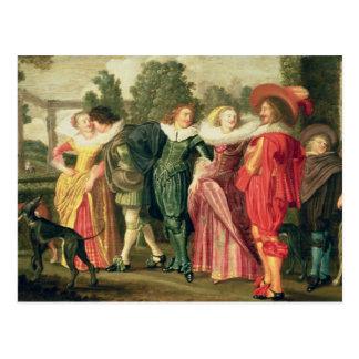 A Promenade in the Garden, c.1623 Postcard
