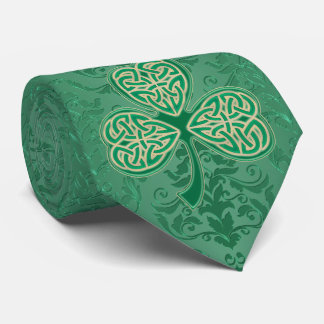 A Proper St. Patrick's Day Irish Green Shamrocks Tie