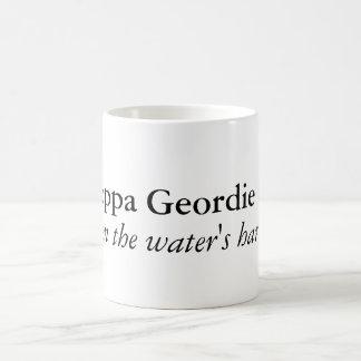 A proppa Geordie brew Basic White Mug