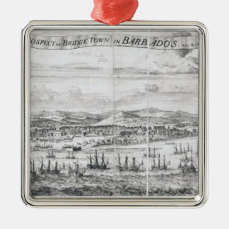 A Prospect of Bridge Town in Barbados Christmas Ornament