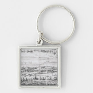 A Prospect of Bridge Town in Barbados Key Ring