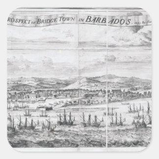 A Prospect of Bridge Town in Barbados Square Sticker