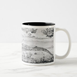 A Prospect of Bridge Town in Barbados Two-Tone Coffee Mug
