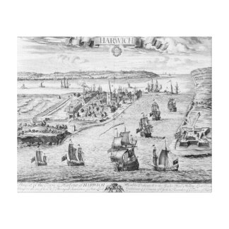 A Prospect of the Towne and Harbour of Harwich Canvas Print